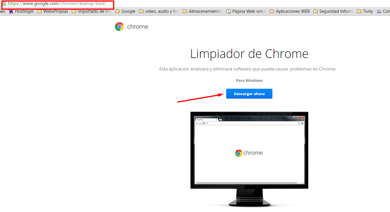 Eliminar pop-up de Google Chrome 1