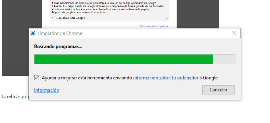 Eliminar pop-up de Google Chrome 3