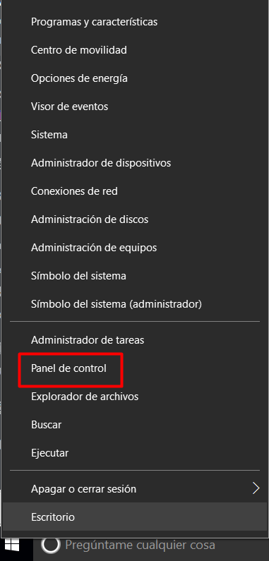 panel de control windows 10-1