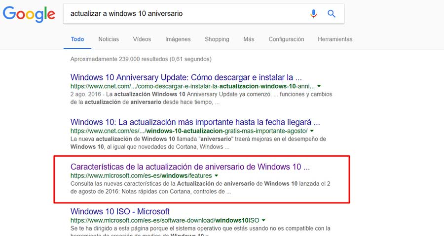 Como actualizar a Windows 10 Aniversario